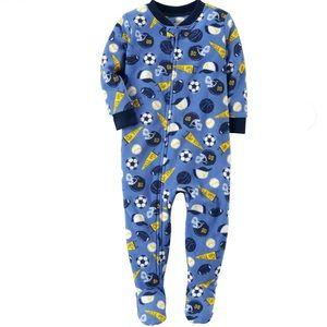 Carter's 1 Piece Sports Fleece PJs size 18m